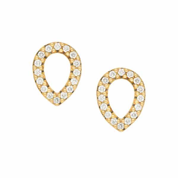 Boucles d'oreilles Angélys en or blanc 750/1000ème,Avec un pavage Diamants en forme de poire avec systèmes Alpas.
