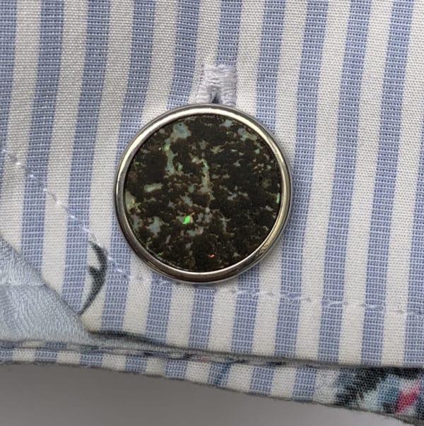 Boutons Manchette Opales - sur chemise